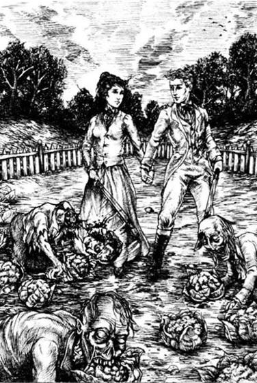 Darcy y Elizabeth felices y unidos en su lucha contra los zombis